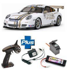 Kit Combo Tamiya TT-01E Porsche 911 GT3 Cup 2008