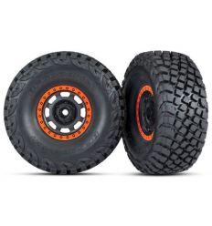 Roues montées collées Desert Racer Orange (2) ( TRX8472 )