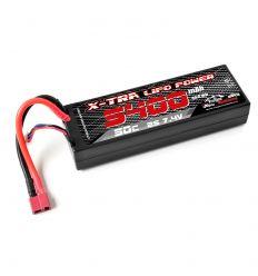Batterie X-TRA Vosges Modélisme 2s 5400 mAh T-Dean