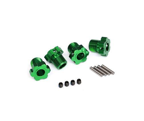 Hexagones de roues anodisés Vert 17mm (X4) ( TRX8654G )
