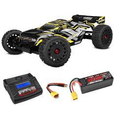 Pack Team Corally Shogun + Chargeur Multi80RS + batteries 5400 mAh