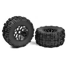 Team Corally - Off-Road 1/8 MT Tires - Mud Claws - Glued on Black Rims - 1 paire ( C-00180-612 )
