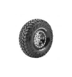 Louise RC - CR-GRIFFIN - Set de pneus Crawler 1-10 - Monter - Super Soft - Jantes 1.9 Chrome-Noir - Hexagone 12mm ( L-T3230VBC )
