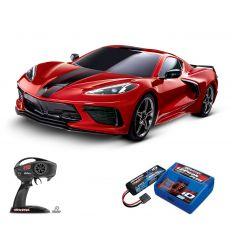 Pack Traxxas Corvette Rouge + Chargeur + batterie 2s 5800 mAh