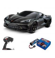 Pack Traxxas Corvette Noir + Chargeur + batterie 2s 5800 mAh