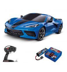 Pack Traxxas Corvette Bleu + Chargeur + batterie 2s 5800 mAh