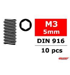 Team Corally - Vis en acier sans tête M3 x 5mm - Six-pans - 10 pcs ( C-3004-30-05 )