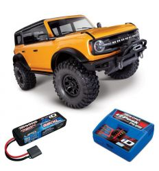 Pack Traxxas TRX-4 Bronco 2021 Orange + Chargeur + Lipo 2s 5800
