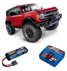 Pack Traxxas TRX-4 Bronco 2021 Rouge + Chargeur + Lipo 2s 5800