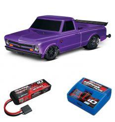 Pack Traxxas Drag Slash Violet + Chargeur + batterie 3s 4000 mAh