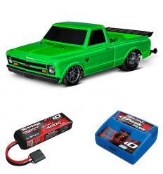 Pack Traxxas Drag Slash Vert + Chargeur + batterie 3s 4000 mAh