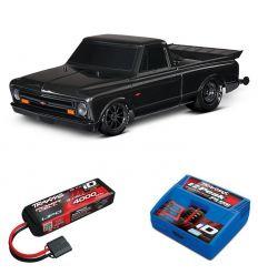 Pack Traxxas Drag Slash Noir + Chargeur + batterie 3s 4000 mAh