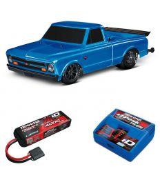 Pack Traxxas Drag Slash Bleu + Chargeur + batterie 3s 4000 mAh