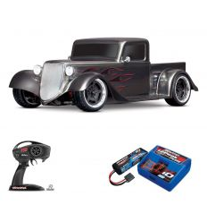 Pack Traxxas Hot Rod Truck Gris + Chargeur + batterie 2s 5800 mAh