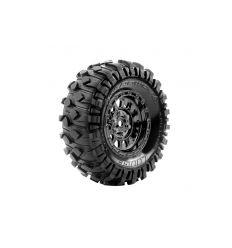 Louise RC - CR-RONDY - Set de pneus Crawler 1-10 - Monter - Super Soft - Jantes 1.9 Chrome-Noir - Hexagone 12mm ( L-T3233VBC )