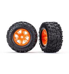 Roues Montées Collées orange pour X-MAXX 8S ( TRX7772T )