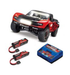 Pack Traxxas UDR Rigid LED + Chargeur double + 2 batteries 5000 mAh