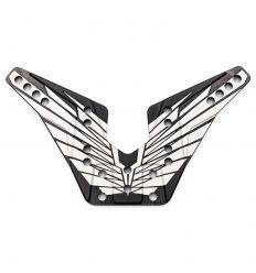 Support d'amortisseur arrière Alu. 4mm OAS noir (fabrication Francaise) (REV-OP36FR)
