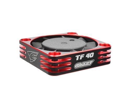 Team Corally - Ultra High Speed Cooling Fan TF-40 w/BEC connector - 40mm - Color Black - Red ( C-53112-1 )