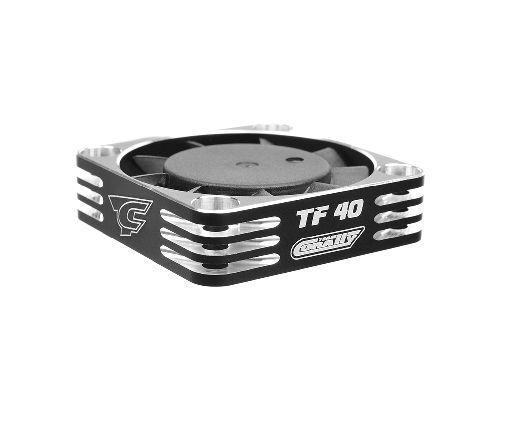 Team Corally - Ultra High Speed Cooling Fan TF-40 w/BEC connector - 40mm - Color Black - Silver ( C-53112-2 )