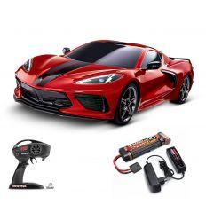 Pack Traxxas Corvette Rouge + Chargeur + batterie nimh 3000