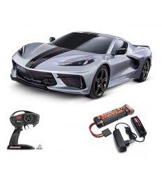 Pack Traxxas Corvette Grise + Chargeur + batterie nimh 3000 mAH