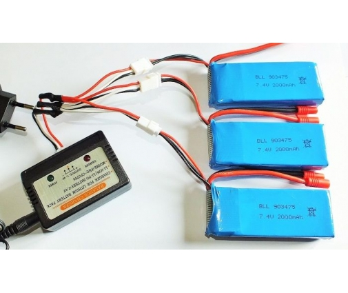 Câble de chargement multi batteries 7,4V