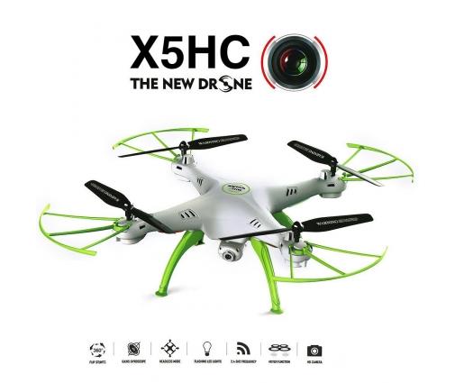Drone Syma X5HC, caméra HD 720p, altimètre