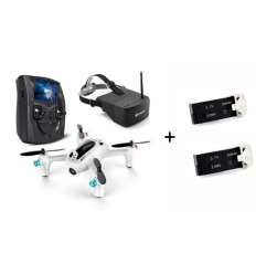 Hubsan X4 H107D+ plus masque EV800 plus 2 batteries