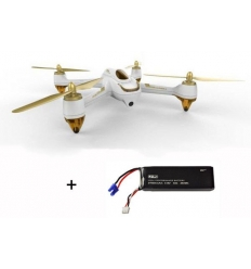Hubsan X4 H501S blanc + 1 batterie