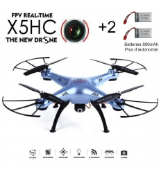 Syma X5HC bleu + 2 batteries 800