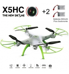Syma X5HC blanc + 2 batteries 800