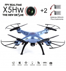 Syma X5HW bleu + 2 batteries 800