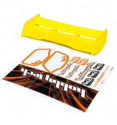 Aileron buggy Jaune 1/8 Racing HTR + stickers