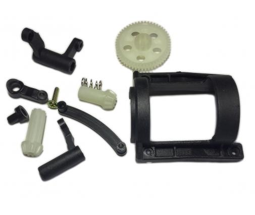 Couronne+pignon+protection moteur+renvoi de direction pour Funtek MT4 - DT4 - ST4