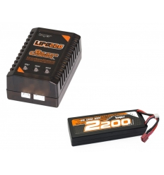 Pack chargeur 2-3s + Lipo 2s 2200 mAh