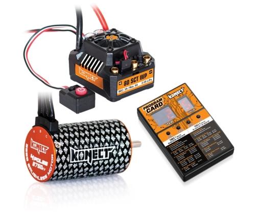 Konect Combo Variateur Brushless 80A SCT WP + Moteur 3660SL 2750KV + Carte