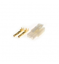 Connecteur : prise TAMIYA plaqué or Femelle (10pcs)