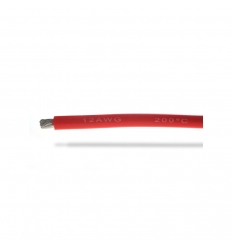 Fil silicone 12AWG (3,58mm²) rouge - 1m