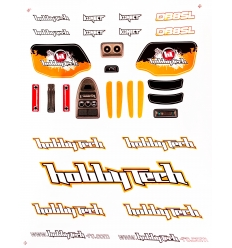 Planche de stickers Hobbytech DB8SL Orange