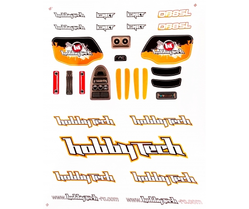 Planche de stickers Hobbytech DB8SL Orange
