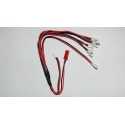 Cable multi-batteries pour drone skywalker, hubsan, walkera