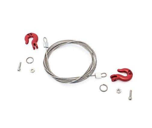 Crochets et cable de remorquage pour crawler