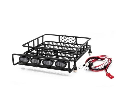 galerie de toit en acier avec kits de led. Black Bedroom Furniture Sets. Home Design Ideas