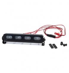 Rampe de projecteurs 4 LEDs oval en aluminium de 107mm