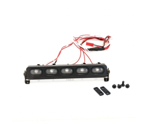 Rampe de projecteurs 5 LEDs oval en aluminium de 128mm