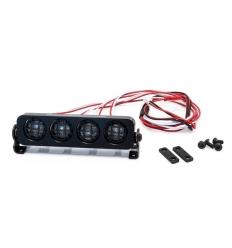 Rampe de projecteurs 4 LEDs rondes en aluminium de 90mm