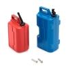 Jerrican d'essence et réservoir d'eau en plastique