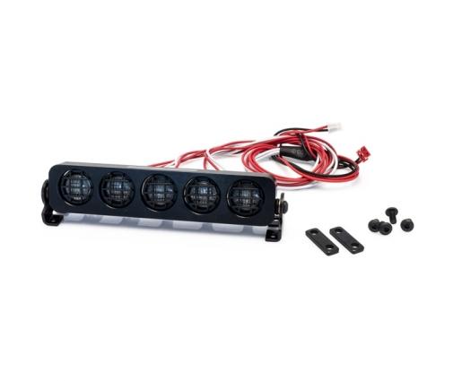 Rampe de projecteurs 5 LEDs rondes en aluminium de 109mm