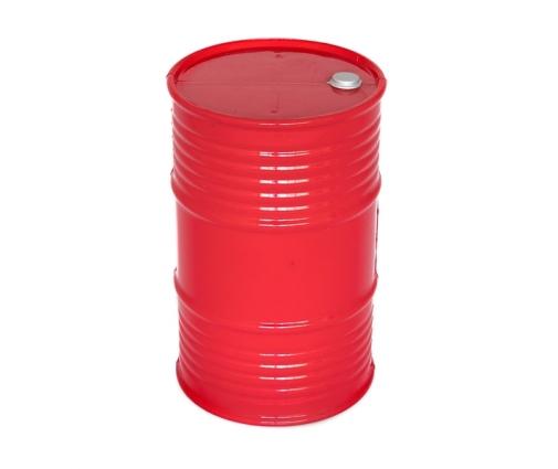 Bidon d'huile en plastique rouge